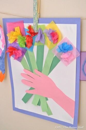Buque de flores de papel